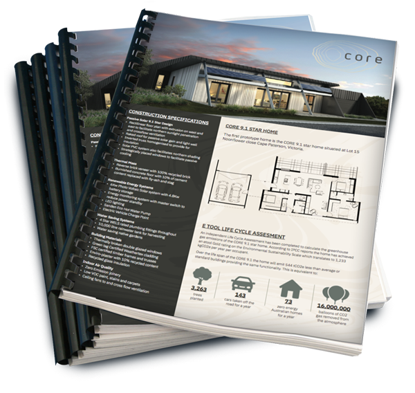 The Core 9.1 housing plan booklet